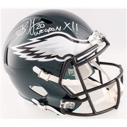"Brian Dawkins Signed Eagles Full-Size Speed Helmet Inscribed ""Weapon X!!"" (JSA COA)"