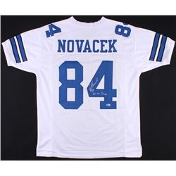 "Jay Novacek Signed Cowboys Jersey Inscribed ""3x SB Champs"" (Beckett COA)"