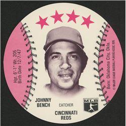 1976 Isaly Discs Johnny Bench