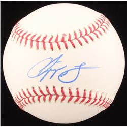 Chipper Jones Signed OML Baseball (JSA COA)