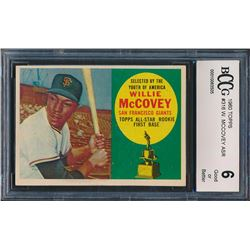 1960 Topps #316 Willie McCovey ASR RC (BCCG 6)