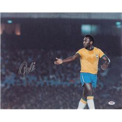 Pele Signed Brazil 16x20 Photo (PSA COA)