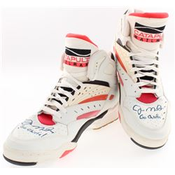 "Lot of (2) Joe Montana Signed Catapult Shoes Inscribed ""Go Chiefs!"" (PSA COA)"