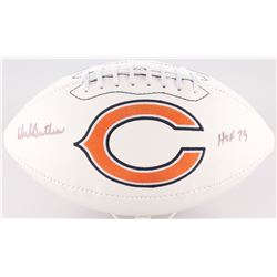 "Dick Butkus Signed Bears Logo Football Inscribed ""HOF 79"" (JSA COA)"