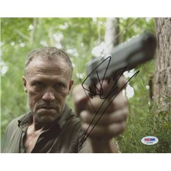 Michael Rooker Signed  The Walking Dead  8x10 Photo (PSA COA)