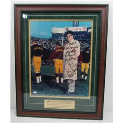 Vince Lombardi 23x29 Custom Framed Photo Display Signed By (11) with Paul Hornung, Bart Starr, Jim T
