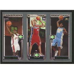 2003-04 Topps Rookie Matrix #JKA LeBron James 111 RC / Chris Kaman 116 RC / Carmelo Anthony 113 RC
