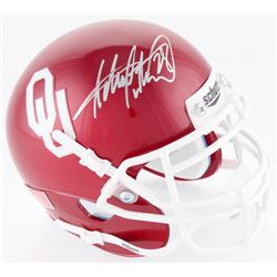 Adrian Peterson Signed Oklahoma Sooners Mini Helmet (JSA COA  Fanatics Hologram)