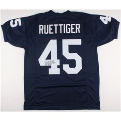 "Rudy Ruettiger Signed Notre Dame Fighting Irish Jersey Inscribed ""Never Quit!"" (JSA COA)"