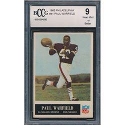 1965 Philadelphia #41 Paul Warfield RC (BCCG 9)