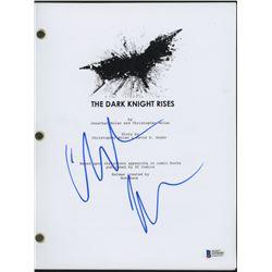 """Christian Bale Signed """"The Dark Knight Rises"""" Full Movie Script (Beckett Hologram)"""
