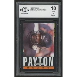 1985 Topps #33 Walter Payton All Pro (BCCG 10)