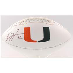 Ray Lewis Signed Miami Hurricanes Logo Football (JSA COA)