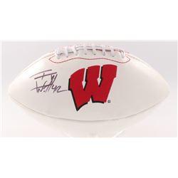 T.J. Watt Signed Wisconsin Badgers Logo Football (JSA COA)