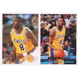 Lot of (2) Kobe Bryant Basketball Cards with 1996-97 Hoops #281 RC  1996-97 Stadium Club Rookies 1 #