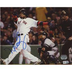 Manny Ramirez Signed Red Sox 8x10 Photo (Mounted Memories COA  MLB Hologram)