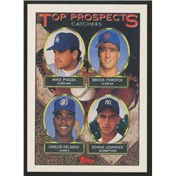 1993 Topps #701 Mike Piazza / Brook Fordyce / Carlos Delgado / Donnie Leshnock