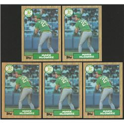 Lot of (5) 1987 Topps #366 Mark McGwire