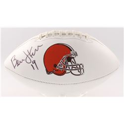 Bernie Kosar Signed Browns Logo Football (JSA COA)