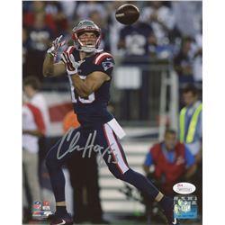 Chris Hogan Signed Patriots 8x10 Photo (JSA COA)