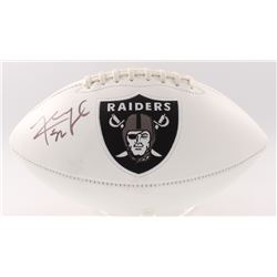 Khalil Mack Signed Raiders Logo Football (JSA COA)