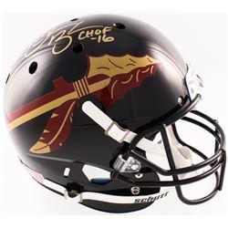 "Derrick Brooks Signed Florida State Seminoles Full-Size Alternate Helmet Inscribed ""CHOF 16"" (Radtke"