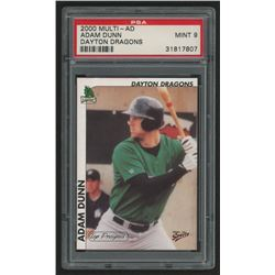 2000 Midwest League Top Prospects Multi-Ad #7 Adam Dunn (PSA 9)