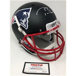 Tom Brady Signed Patriots Custom Black Matte Full-Size Helmet (TriStar Hologram)