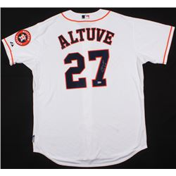 "Jose Altuve Signed Astros World Series Jersey Inscribed ""2014 AL BC"" (MLB Hologram)"