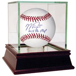 "Mike Trout Signed Baseball Inscribed ""2014 AL MVP"" (Steiner COA)"