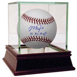 "Mike Trout Signed Baseball Inscribed ""16 AL MVP"" (Steiner COA)"