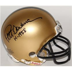 "Pete Dawkins Signed Army Black Knights Mini-Helmet Inscribed ""H-1958"" (JSA COA)"