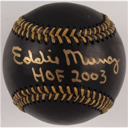 "Eddie Murray Signed OML Black Leather Baseball Inscribed ""HOF 2003"" (JSA COA)"