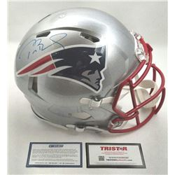 Tom Brady Signed Patriots Full-Size Authentic On-Field Speed Helmet (Steiner COA  TriStar Hologram)