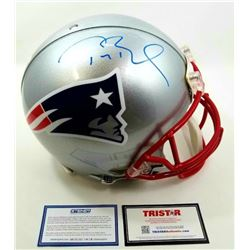 Tom Brady Signed Patriots Full-Size Authentic On-Field Helmet (Steiner COA  Tristar Hologram)