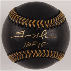 "Trevor Hoffman Signed OML Black Leather Baseball Inscribed ""HOF 18"" (JSA COA)"