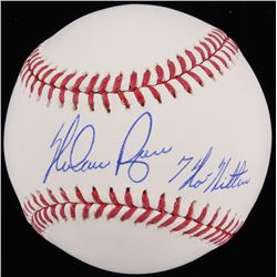 "Nolan Ryan Signed OML Baseball Inscribed ""7 No Hitters"" (Beckett COA  Ryan Hologram)"