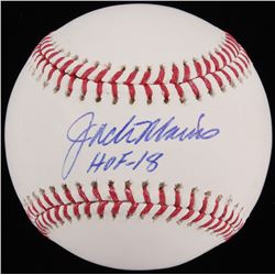 "Jack Morris Signed OML Baseball Inscribed ""HOF - 18"" (Beckett COA)"