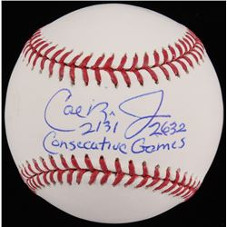 "Cal Ripken Jr. Signed OML Baseball Inscribed ""2131""  ""2632 Consecutive Games"" (JSA COA)"
