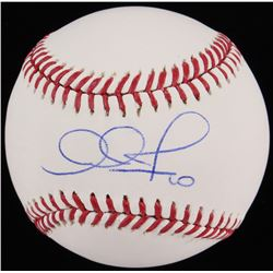 Adam Jones Signed OML Baseball (Fanatics Hologram MLB Hologram)