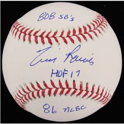 "Tim Raines Signed OML Baseball Inscribed ""808 SB's"" ""HOF 17""  ""86 NLBC"" (JSA COA)"