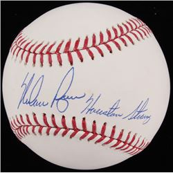 "Nolan Ryan Signed 2017 World Series OML Baseball Inscribed ""Houston Strong"" (JSA COA  Ryan Hologram)"
