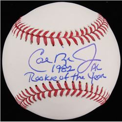 "Cal Ripken Jr. Signed OML Baseball Inscribed ""1982 AL Rookie Of The Year"" (JSA COA)"