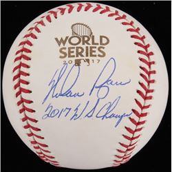 "Nolan Ryan Signed 2017 World Series OML Baseball Inscribed ""2017 W.S. Champs"" (Beckett COA  Ryan Hol"