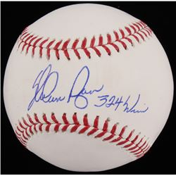 "Nolan Ryan Signed OML Baseball Inscribed ""324 Wins"" (Beckett COA  Ryan Hologram)"
