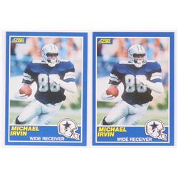 Lot of (2) 1989 Score #18 Michael Irvin RC
