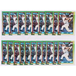 Lot of (20) 1990 Topps #692 Sammy Sosa RC