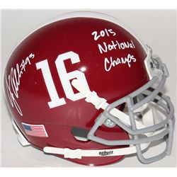 "Jonathan Allen Signed Alabama Crimson Tide Mini-Helmet Inscribed ""2015 National Champs"" (SGC COA)"