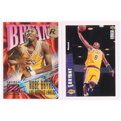 Lot of (2) Kobe Bryant Basketball Cards with 1996-97 Collector's Choice #267 RC, 1996-97 Z-Force #14
