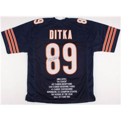 Mike Ditka Signed Bears Career Highlight Stat Jersey (JSA COA)